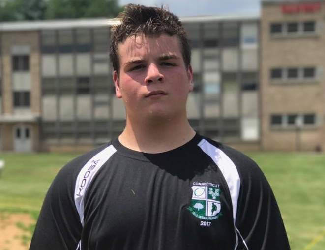 Essex resident Ben Falivene recently competed with the Connecticut All-Star junior varsity rugby team, which won its bracket at the Northeast Regional Challenge Tournament in New Jersey. Photo courtesy of Ben Falivene
