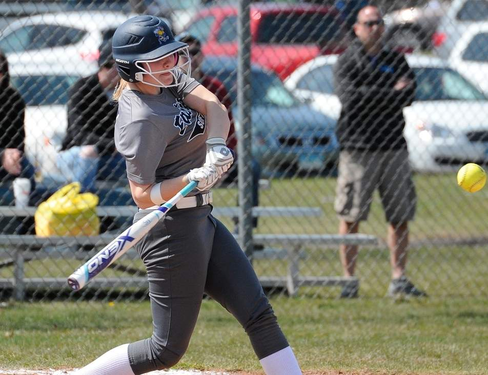 Fallon Speers was the lone senior and a captain for East Haven softball team this spring. Speers and company wound up winning 13 ballgames to earn trips to both the SCC and Class L State tournaments. Photo by Kelley Fryer/The Courier