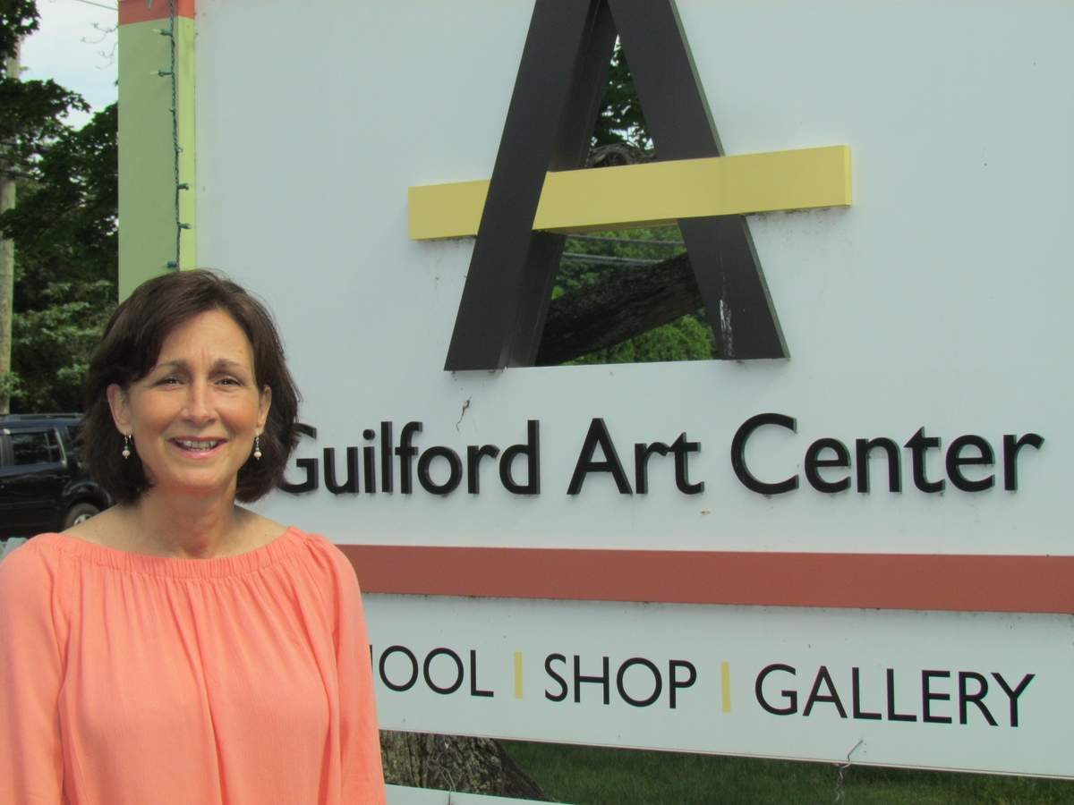 As Guilford Art Center's new Craft Expo coordinator, Dawn Tiscia is putting her talent toward helping pull together this year's enormous Craft Expo on the Green, which celebrates its 60th year in 2017 by bringing over 180 unique American artists to town from July 14 to 16. Photo by Pam Johnson/Guilford Courier