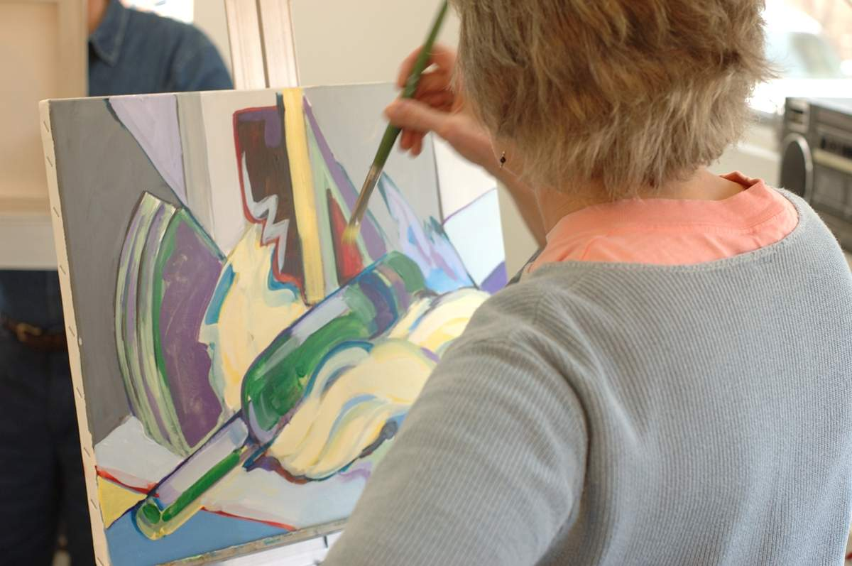 A free class geared toward the beginning adult artist will be held at the Guilford Art Center on Saturday, July 1. Photo courtesy of the Guilford Art Center