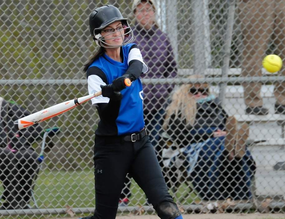 Senior captain Anna Joseph posted a .310 batting average with 11 RBI and 12 runs scored for the Rams' softball squad, which went from winning two games last year to collecting eight victories this season en route to berths in both postseason tournaments. Photo by Kelley Fryer/Harbor News