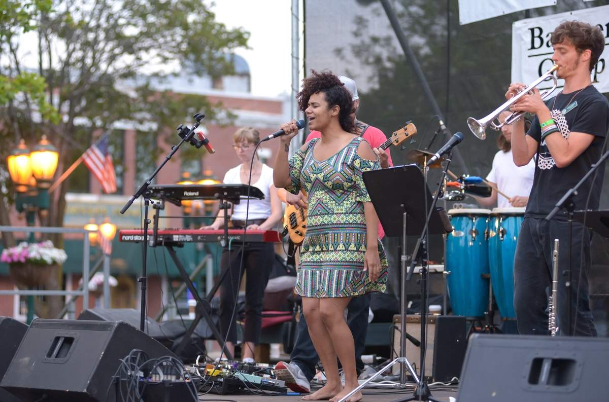 Branford Jazz on the Green Series kicked off it's ninth year. The Recess Bureau started off the series that runs through August 24th.  @SPN Cut credit: Photo by Kelley Fryer/The Sound