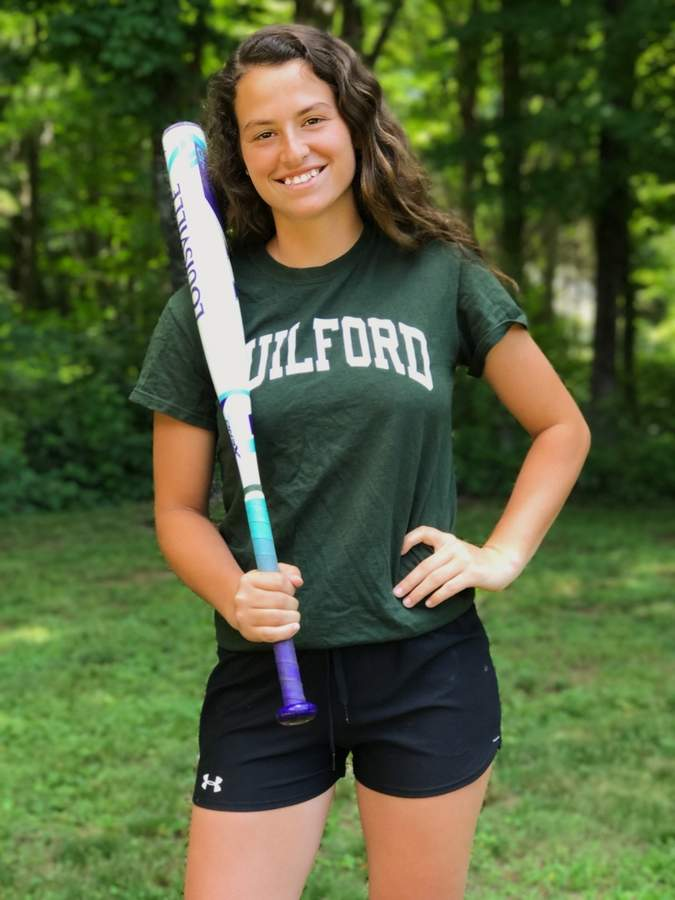 Amanda King won 17 games and batted for a .471 average with the Guilford softball team this season. Amanda was an All-SCC First Team and All-State selection for the Indians, who reached their first SCC Tournament final. Photo courtesy of Amanda King