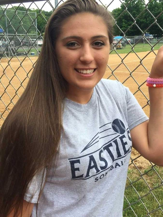 Jess Stettinger has been an impact player for the East Haven softball team since her freshman year, but the junior captain catcher just put together her career year with the Yellowjackets during the recent spring season. Photo courtesy of Jess Stettinger