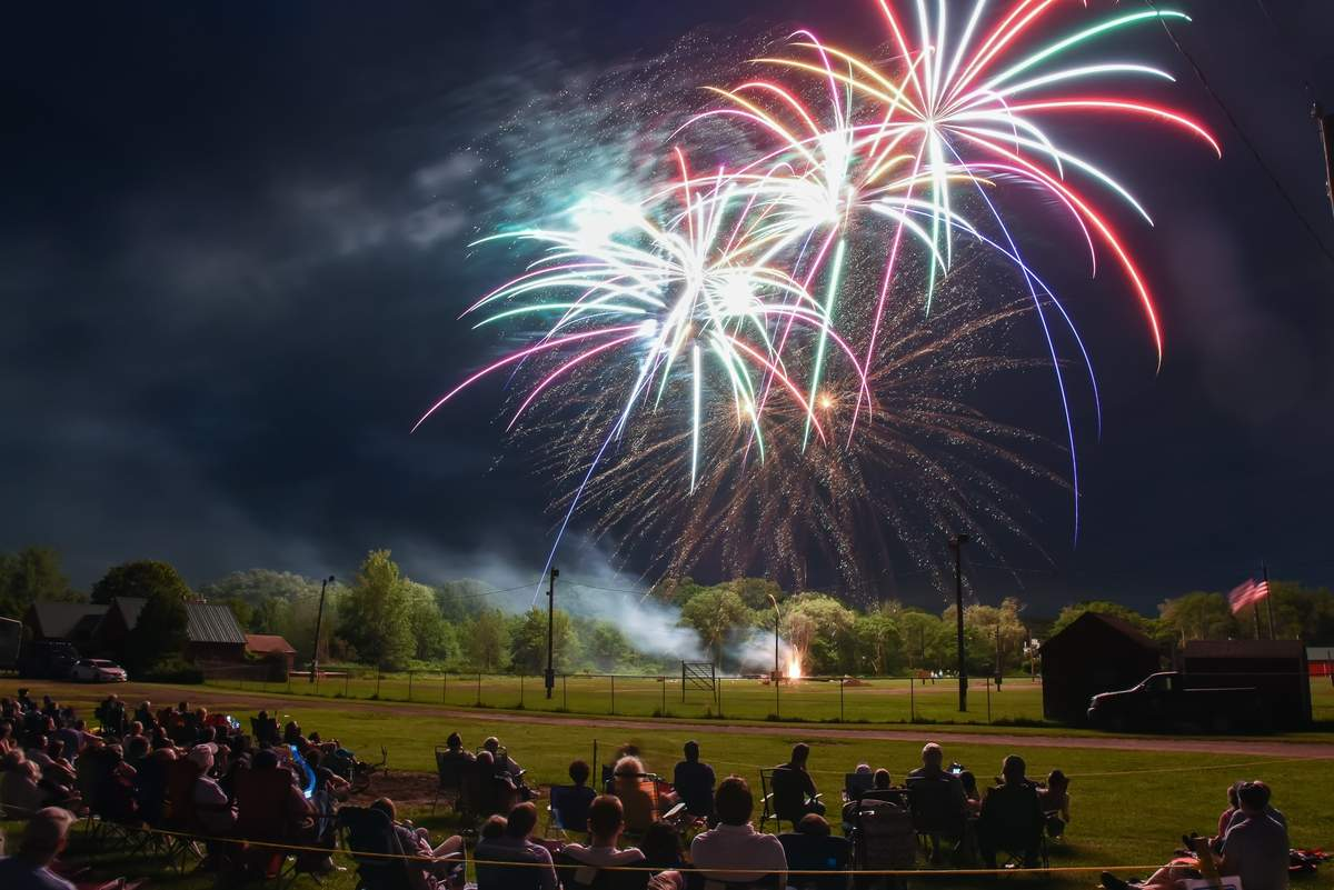 The annual Guilford Town Fireworks took place at the Guilford Fairgrounds, with muisc by  Ball in the House, a Boston a capella group, and food trucks and bouncy playscapes.