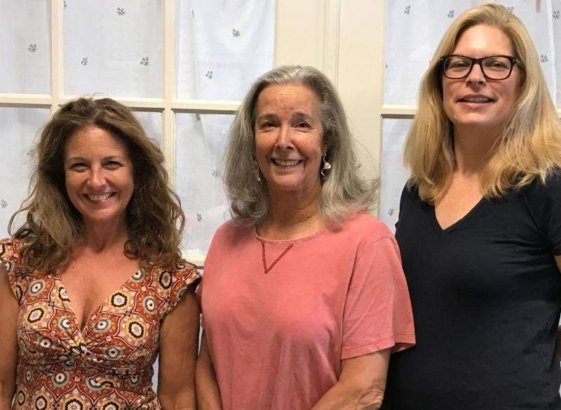 The artists at 188 North Main Street: Cynthia Purcell, Martha Link Walsh, and Owen Luckey Photo courtesy of Martha Link Walsh Gallery