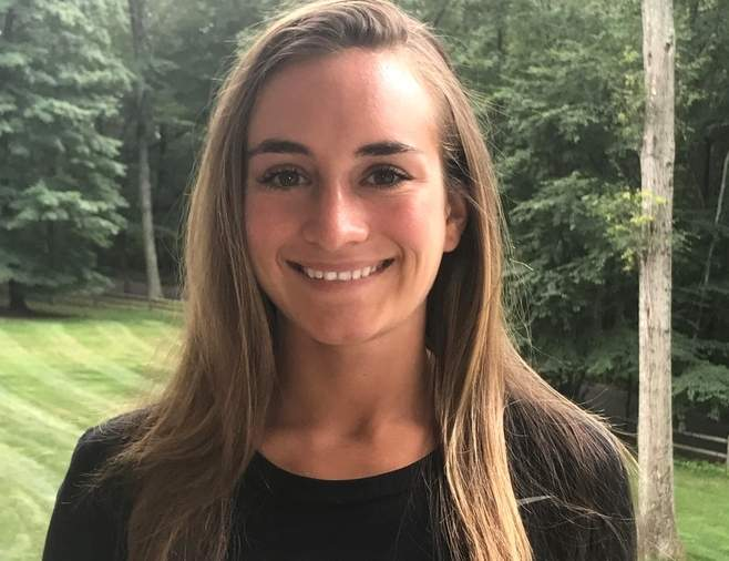 Recent Old Saybrook High School graduate Rosie Rothman played her to way to a spot on the All-Shoreline Conference First Team as the No. 1 singles player for the Rams' girls' tennis squad this spring. Rothman, a tri-captain, also earned CIAC Scholar Athlete honors on behalf of Old Saybrook. Photo courtesy of Rosie Rothman