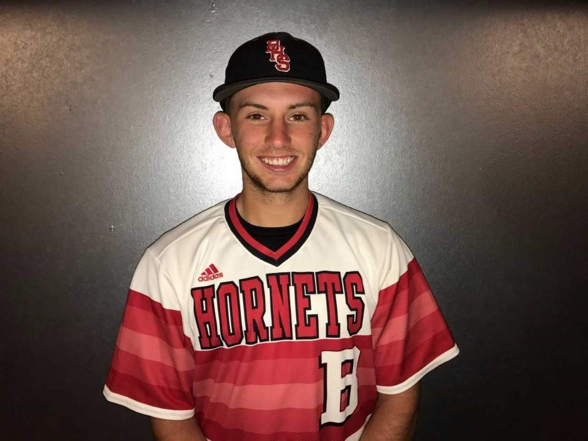 Nikko Liguori overcame two ACL tears to have a great senior season for the Branford baseball team this spring. Now, Nikko gets ready to do a postgraduate year at IMG Academy in Florida with hopes of moving on to the NCAA. Photo courtesy of Nikko Liguori