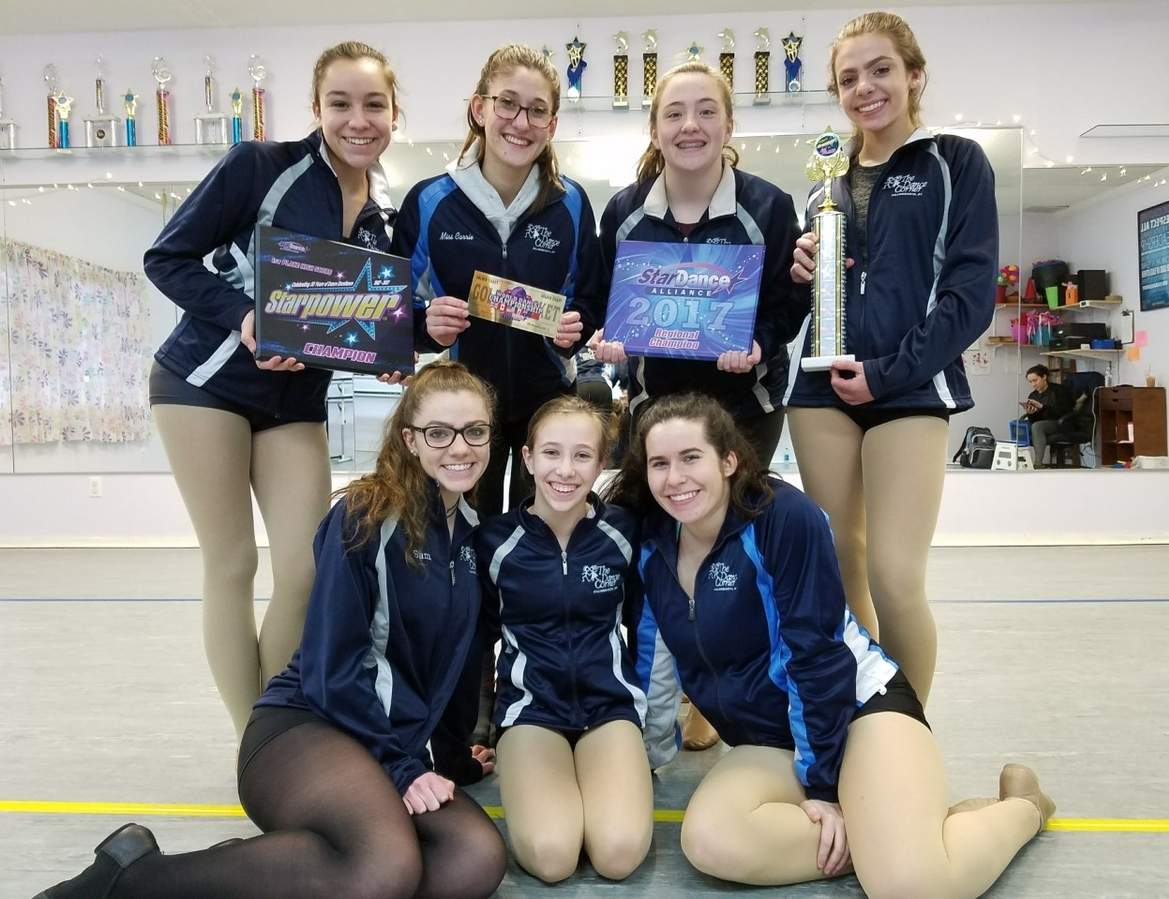 Pictured are The Dance Corner's performers of Something in the Water in (back row) Olivia Papa (Madison), Theresa Pasqualini (Killingworth), Mary Darin (Killingworth), and Olivia Dunsmore (Madison); (front row) Samantha Dunsmore (Madison), Grace Pendleton (Clinton), and Heather Kenney (Essex) Photo and information courtesy of Carrie Smith