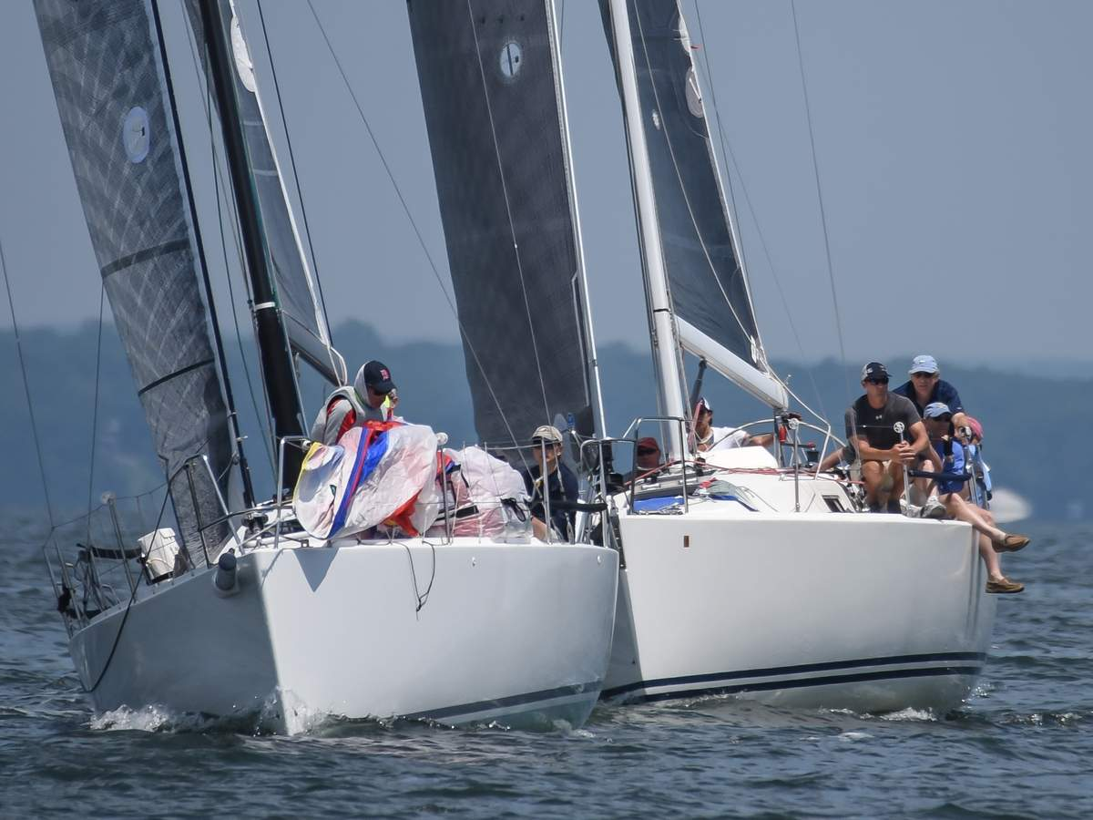 The 56th annual Branford Yacht Club Regatta took place Saturday afternoon with 30 boats sailing in five classes.