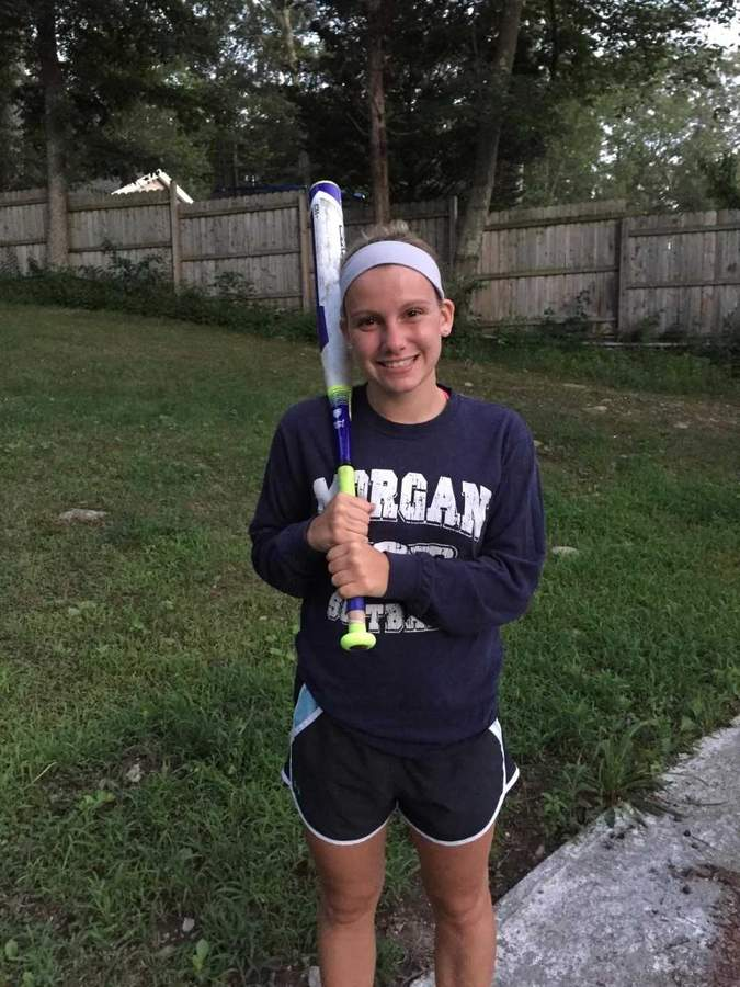 Even though she hadn't pitched since Little League, Autumn Johnson was asked to pitch for the Morgan softball squad this spring, in addition to playing second base, third base, and the outfield in her senior season. Photo courtesy of Autumn Johnson