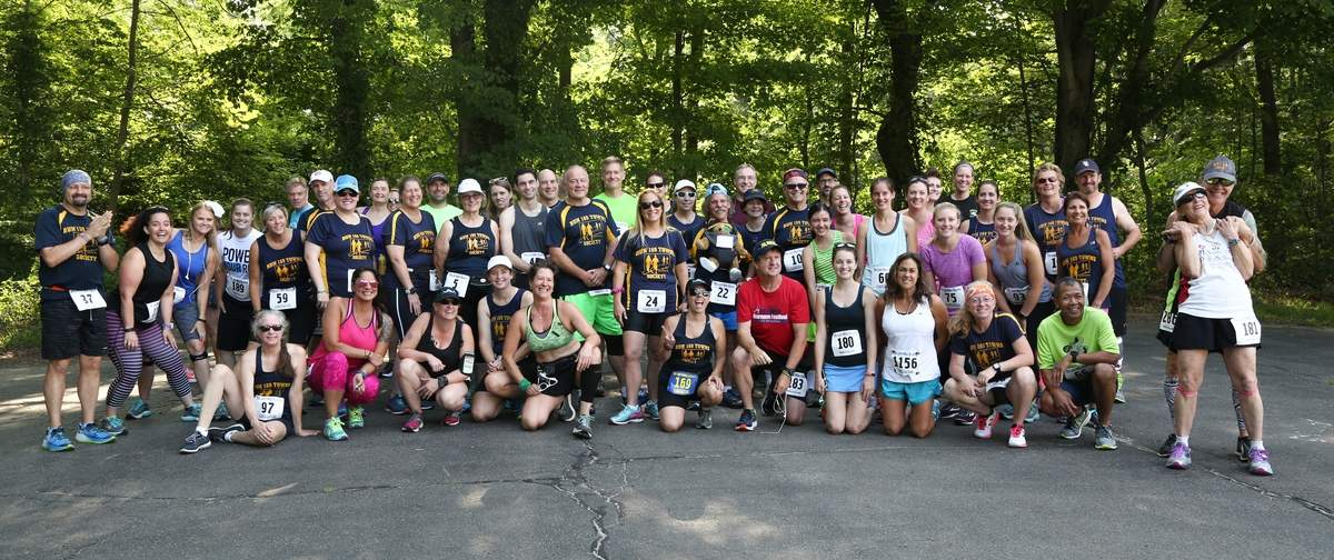Killingworth Road Race 2017. The 169 Club. These runners race in all of the 169 Connecticut towns.
