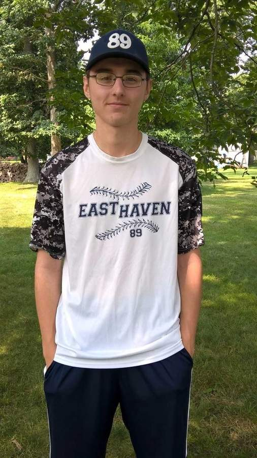 No matter what spot he's playing on the field, Gabe Longley finds a way to a contribute to the success of East Haven Senior Legion baseball team. Photo courtesy of John Longley