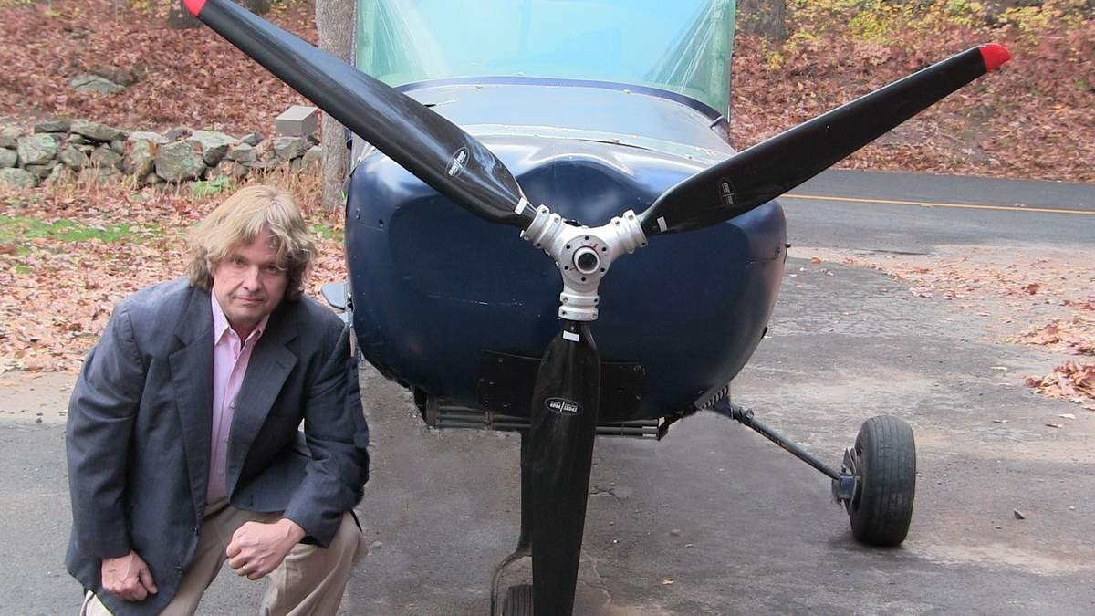 Guilford inventor Dale Walter-Robinson has clinched a U.S. Patent for his green system, first-of-its-kind solution to a major issue preventing electric aircraft from entering the market: limited flying range. Photo courtesy of ElectronAir LLC