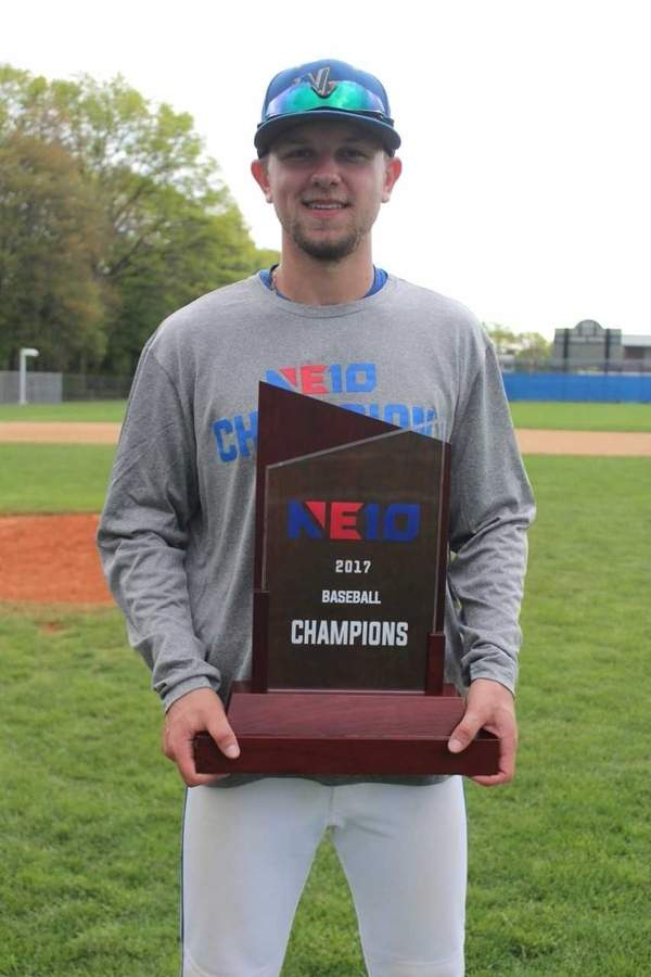 Branford High School alum Rob Petrillo helped the University of New Haven baseball team win the Northeast-10 Conference Tournament title this spring, while earning All-Conference honors in the process. As a member of the Hornets, Rob was the baseball squad's Most Valuable Player in a senior year that also saw him garner All-State accolades for the boys' ice hockey squad. Photo courtesy of Rob Petrillo