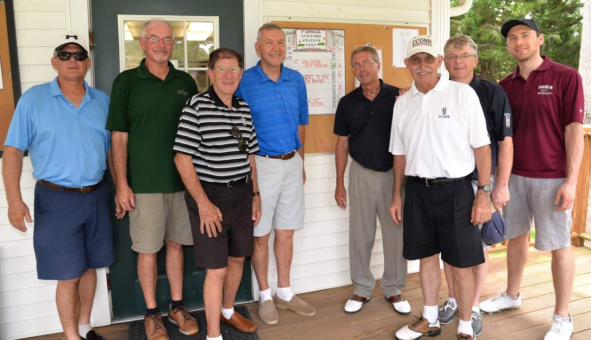 Guilford Lakes Golf Course's 1st Annual Guilford Amateur Golf Championship.Greg Putney, ,Skip Perkins(Low Gross) ,Jerry Amendola,John Sondej(Closest to Pin) , Golf Pro, Mike Papp, Bob Dietz, Jean-Marc Pandraud, Ryan Driscoll.
