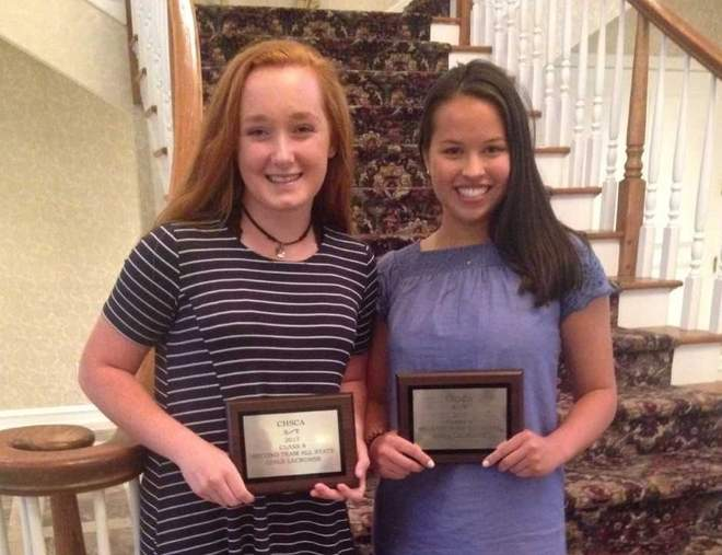 Erin Owens and fellow North Haven resident Annie Uyeki were both All-State athletes on the Connecticut high school girls' lacrosse circuit this year. Photo courtesy of Alison Uyeki