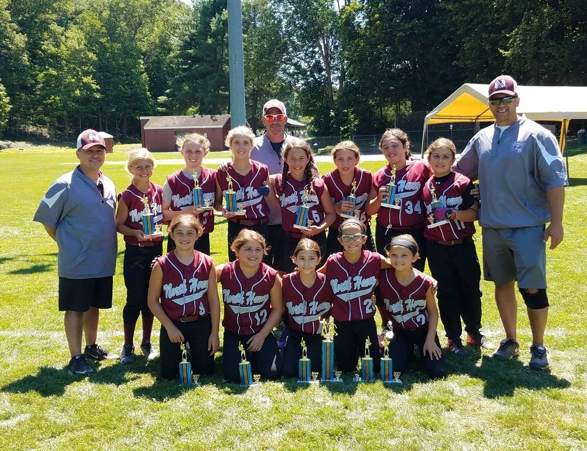 The North Haven Pride lived up to their name this summer by playing their way to a campaign that everyone involved can feel proud about. Pictured from the team are (front row) Alyssa Ferriouolo, Lucia Cavaliere, Amalia Morizio, Laney Smith, and Maya Redman; (back row) coach Lawrence Morizio, Alyssa DiGiovanna, Avery Berney, Anika Burr, coach Billy Ferriouolo, Gabriella Blanchard, Ava Carlson, Isabella Blanchard, Alexandra Anquillare, and coach Mike Anquillare. Missing from the photo is coach Tony Tomassi. Photo courtesy of Susan Smith