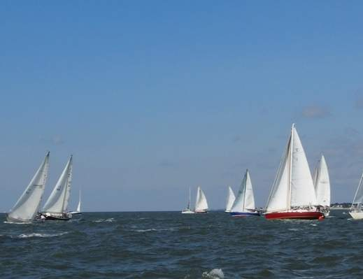 Essex Corinthian Yacht Club Will hold its annual Cross Sound Challenge Regatta on Saturday, Sept. 23. The race's starting point is Outer Light of Saybrook Point, and boats will travel to the north shore of Long Island and back. Photo courtesy of Ruth Emblin