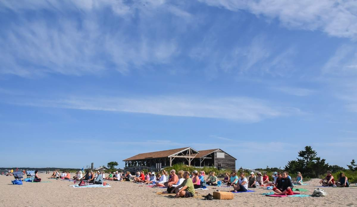 Body Karma Studio held its Sunday morning beach yoga at Hammonasset Beach State Park, instructed by Tristin Dunn-Bianca.