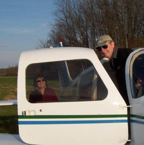 Tom Hansen caught the aviation bug before he married and had kids, and says he's fortunate to have family who enjoy flying with him to this day. Photo courtesy of Tom Hansen