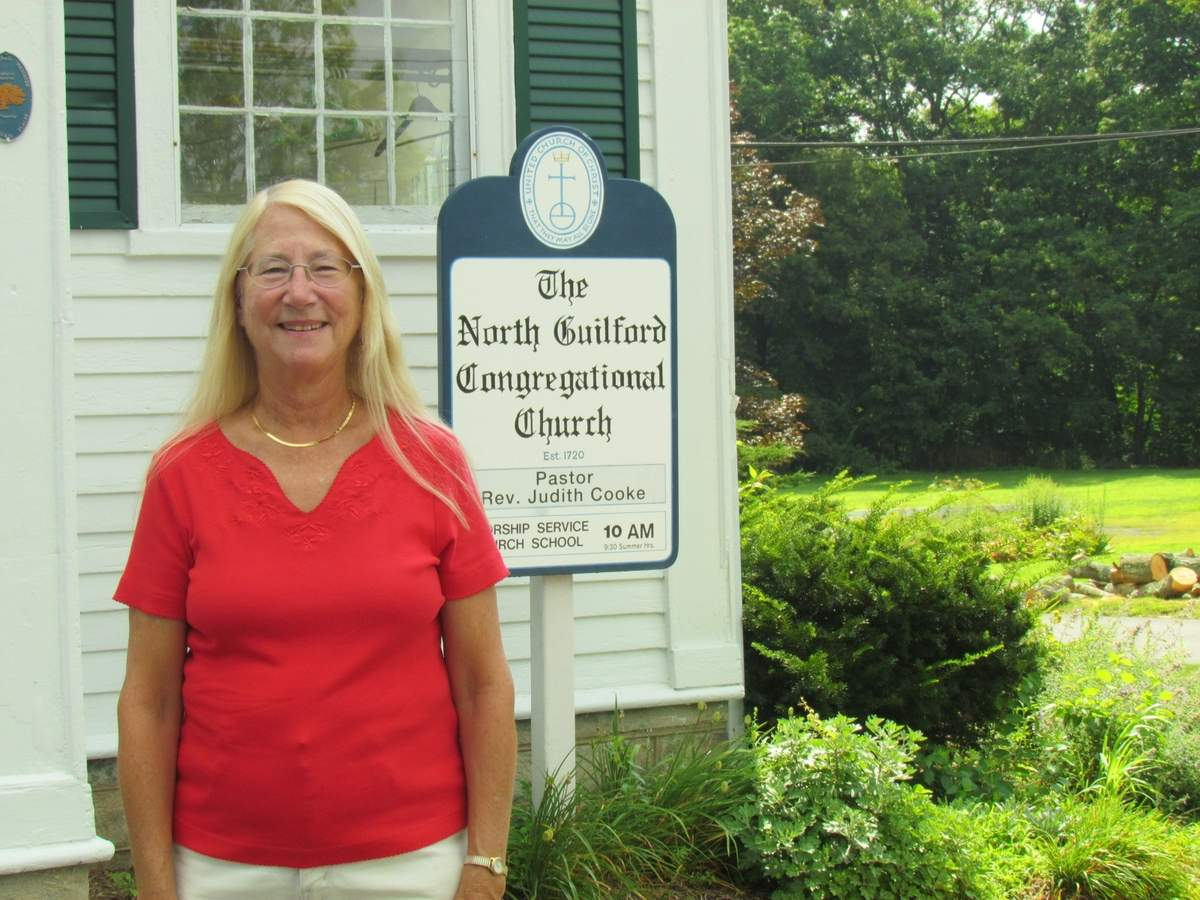 From supporting mission efforts to providing a support system for church members, Cynthia Damer sees many benefits in joining her church family to put on the North Guilford Country Fair & Auction, coming to North Guilford Congregational Church Saturday, Aug. 19. Photo by Pam Johnson/The Courier