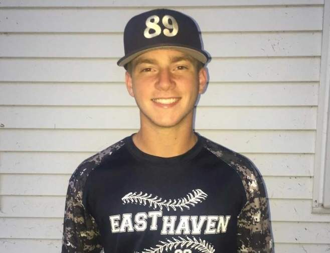 Jack Zimmerman found a home as the shortstop and leadoff hitter with the East Haven Senior American Legion baseball team this summer. Photo courtesy of Jack Zimmerman