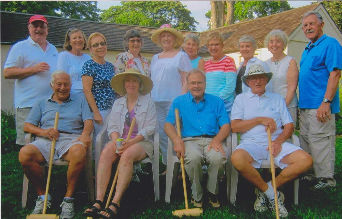 Participants from a recent croquet match Photo courtesy of the Old Saybrook Historical Society