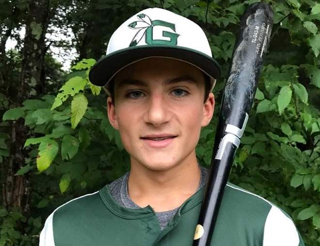John Petonito broke into the varsity ranks with the Guilford High School baseball squad this spring and then hit for a .344 average with the Post 48 Junior Legion team during the 2017 summer season. Photo courtesy of John Petonito