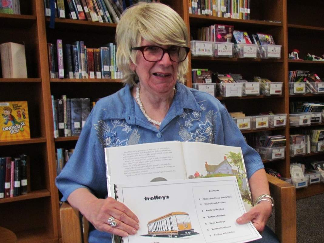 East Haven resident and retired children's librarian Phyllis DaCorte was a little library fan as a kid; she still shares her love of children's books as a volunteer with the Shoreline Trolley Museum and Willoughby Wallace Library. Photo by Pam Johnson/The Courier