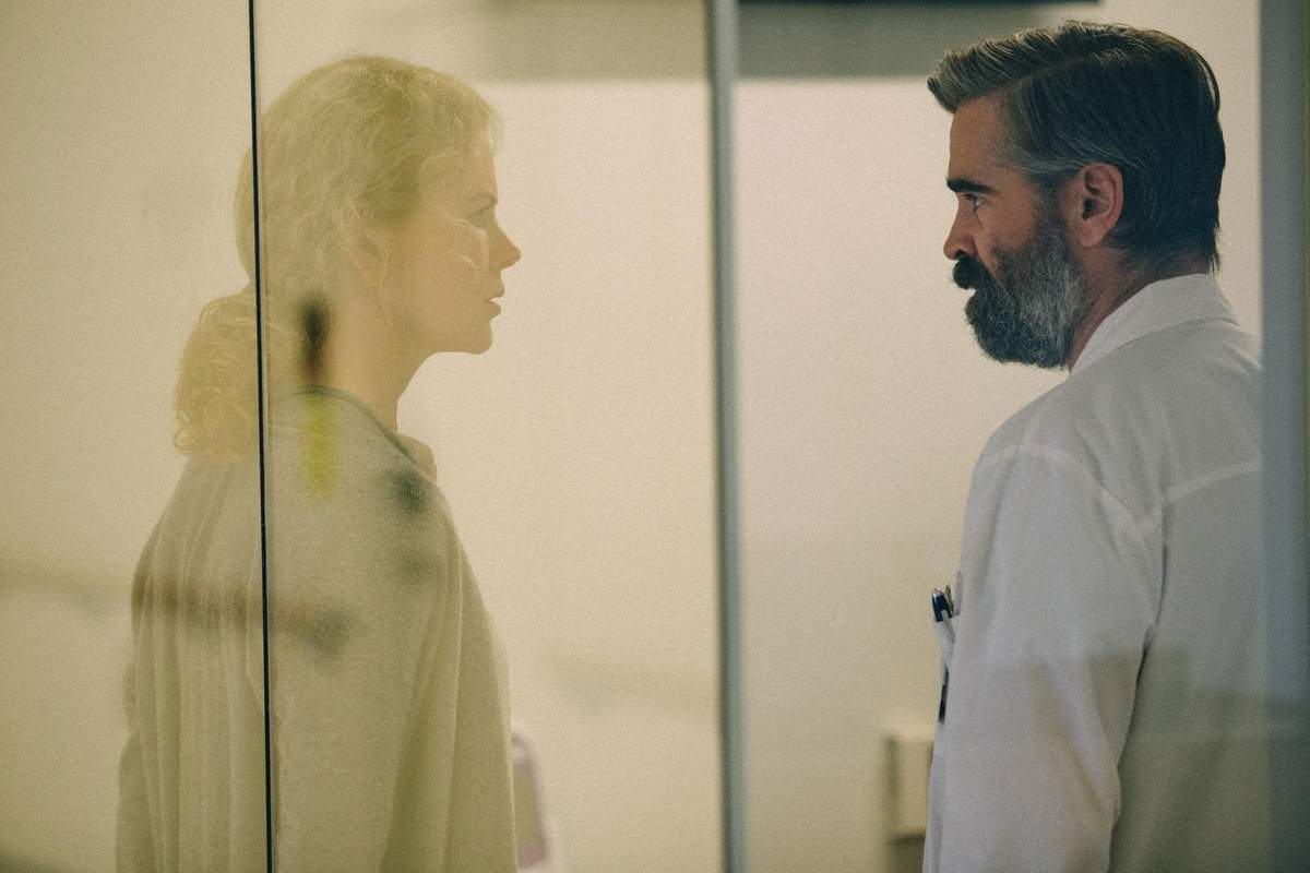 Colin Farrell and Nicole Kidman star in The Killing of a Sacred Deer. Photo courtesy of Element Pictures and Film4 Productions