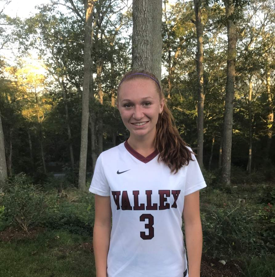 Valley Regional girls' soccer senior captain Sydney Suedmeier—a two-time Defensive Player of the Year for the Warriors—will serve as the point person in the new defensive system that Head Coach Lloyd Warren is deploying for the 2017 season. Photo courtesy of Sydney Suedmeier