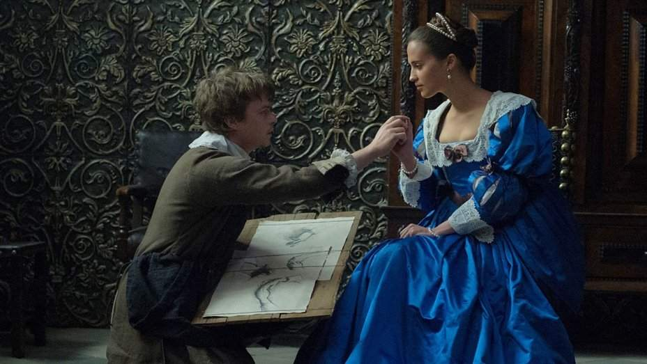 Alicia Vikander and Dane DeHaan star in Tulip Fever. Photo courtesy of Worldview Entertainment