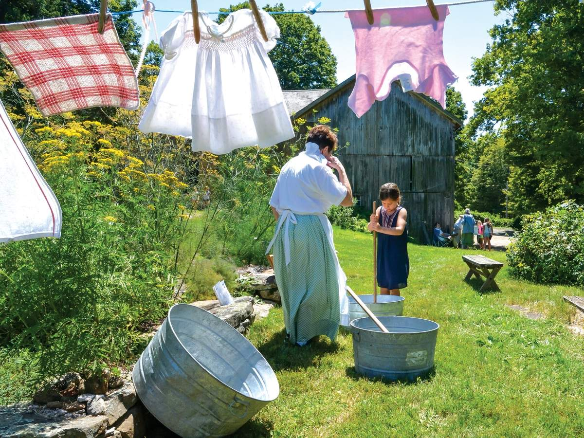 The Dudley Farm in Guilford allows visitors to take a step back in time to the 19th century.   clothes. @SPN Cut credit: Photo by Kelley Fryer/elan Magazine