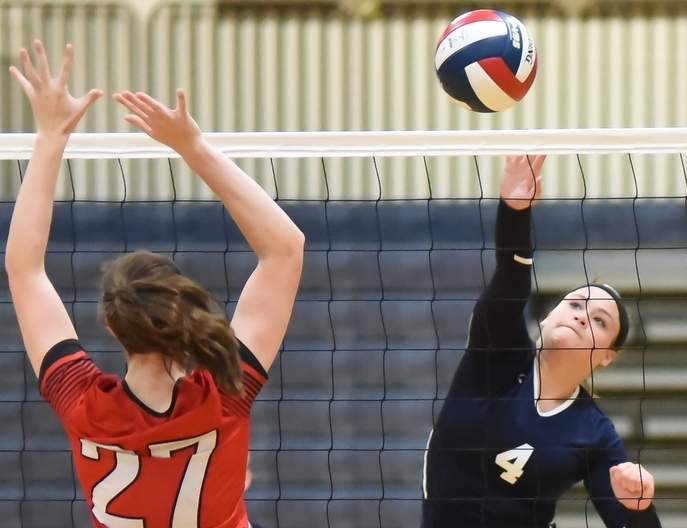 Summer Onorato and the East Haven volleyball team are off to one of their best starts in program history with a record of 4-0 thus far this fall. Photo by Kelley Fryer/The Courier