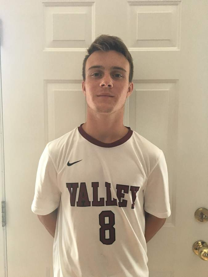 Four-year starter Adrian Sperzel is stepping into a leadership role as a senior captain for the Valley Regional boys' soccer squad this fall. Photo courtesy of Adrian Sperzel