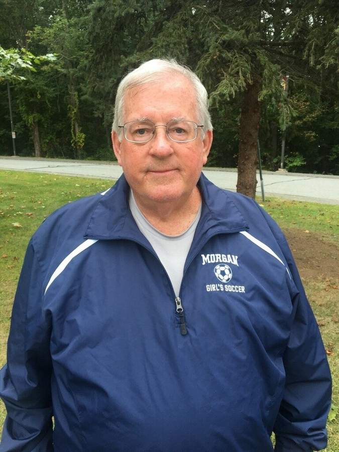 Killingworth resident Steve Sullivan is in his 44th year as a soccer coach, 35 of which were spent with the Soccer Club of Guilford. This fall, the longtime Morgan girls' soccer assistant coach takes the reins as head coach for the Huskies. Photo courtesy of Steve Sullivan