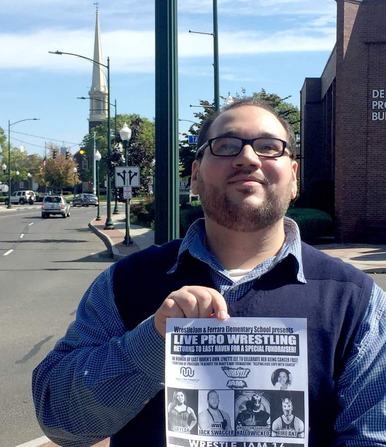 It's on! Michael Banks is organizing WrestleJam, a fundraiser in honor of Ferrara Elementary School student Lynette Ely, with chilhood cancer charity Mikey's Way as beneficiary. Photo by Matthew DaCorte/The Courier