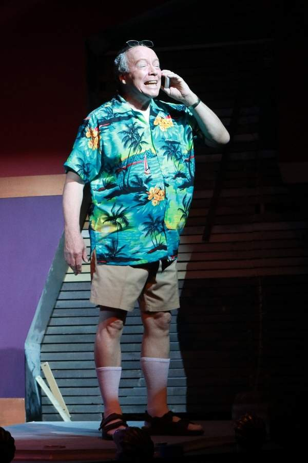 Bruce Connelly as Lee Rosenblatt in I Hate Musicals: The Musical at Ivoryton Playhouse. Photos by Anne Hudson