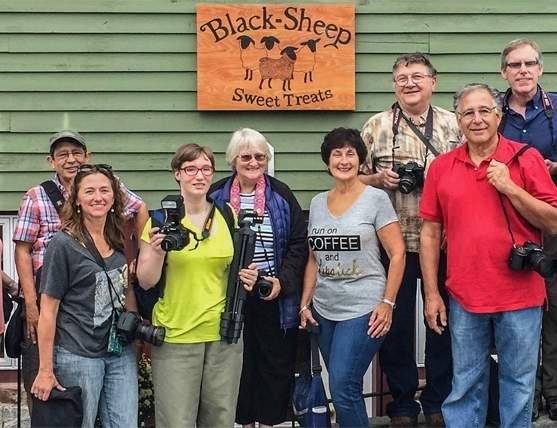 From left are North Haven Camera Club members Frank Teodosio, Ted Wysocki, Joanne Hiscocks, Steve Lombardi, Irene Liebler, Helen Pappas, Ann Lombardi, Gail Wysocki, Steve Fahy, Richard Naples, Bill Dillane, Sam Carr, and Mike Young. Photo courtesy of Bill Dillane