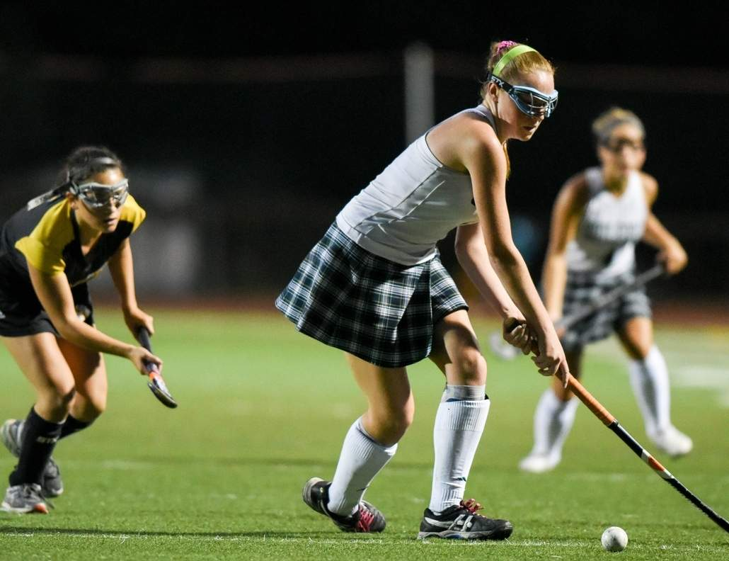 Senior midfielder Bryce Makula and the Guilford field hockey squad has won four games in a row, while outscoring its opponents by a 20-0 mark in that span. Photo by Wesley Bunnell/The Courier