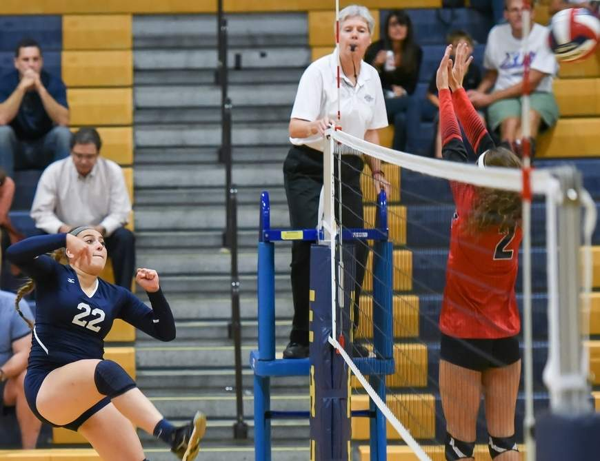 Jessica Stettinger and the East Haven volleyball team stand with a record of 11-4 after beating Sacred Heart Academy and losing to Amity last week. Photo by Kelley Fryer/The Courier