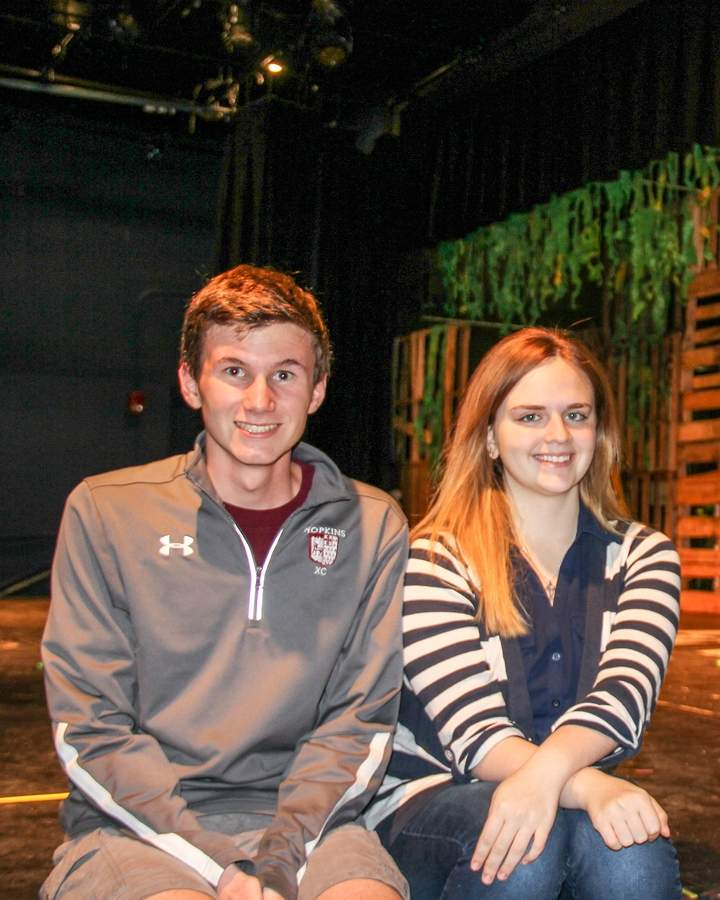 Sam Jenkins of Branford and Leigh Meillo of North Branford say performing in the renowned Edinburgh Fringe Festival an amazing experience. Photo courtesy of Karen Isaacs and the Hopkins Drama Association/Shakespeare on a Shoestring