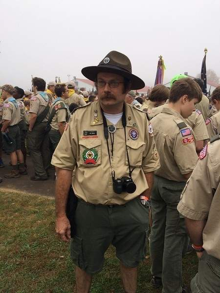 Troop 55 Scoutmaster Joe Emack was recently recognized with the Unit Leader Award of Merit and the The Campaign Cover.  Photo courtesy of Joe Emack