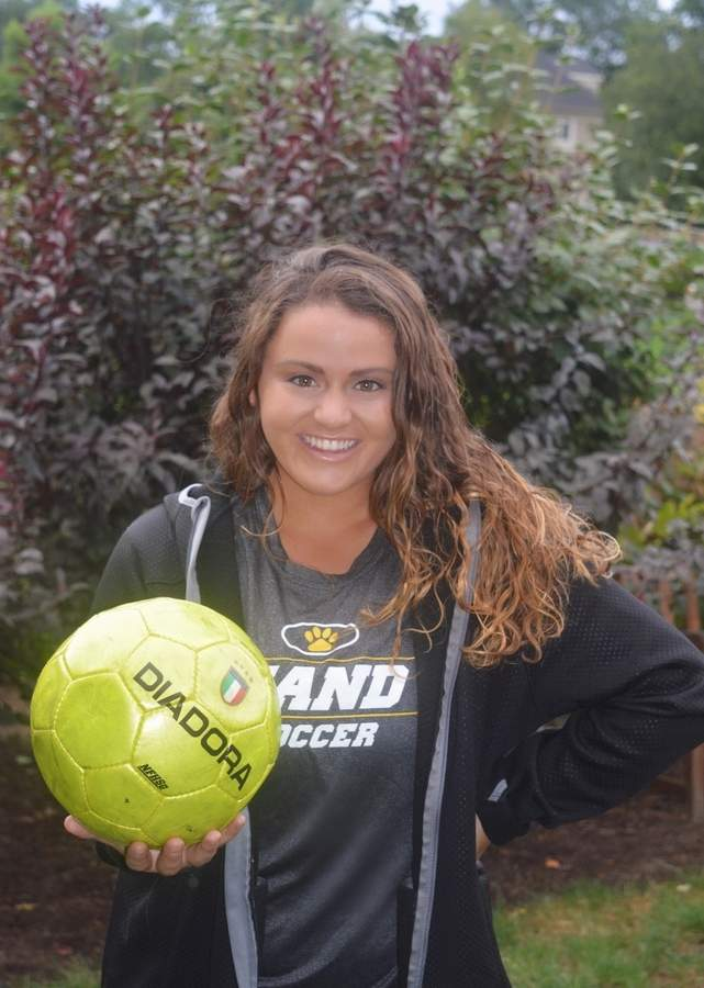 Daniel Hand girls' soccer alum Kendra Lena is back in the fold as the freshman head coach and a varsity assistant with the Tigers. Photo courtesy of Kendra Lena