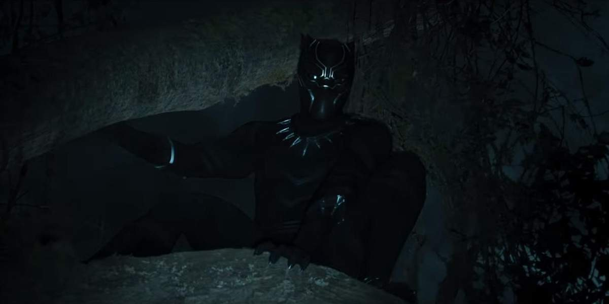 Chadwick Boseman as the titular character in Black Panther Photo Courtesy Of Walt DIsney Studios