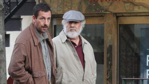 Adam Sandler and Dustin Hoffman star in The Meyerowitz Stories. Photo courtesy of Netflix