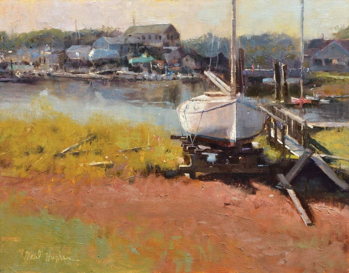 Morning on the River, oil, 14 x 18 inches​, Neal Hughes