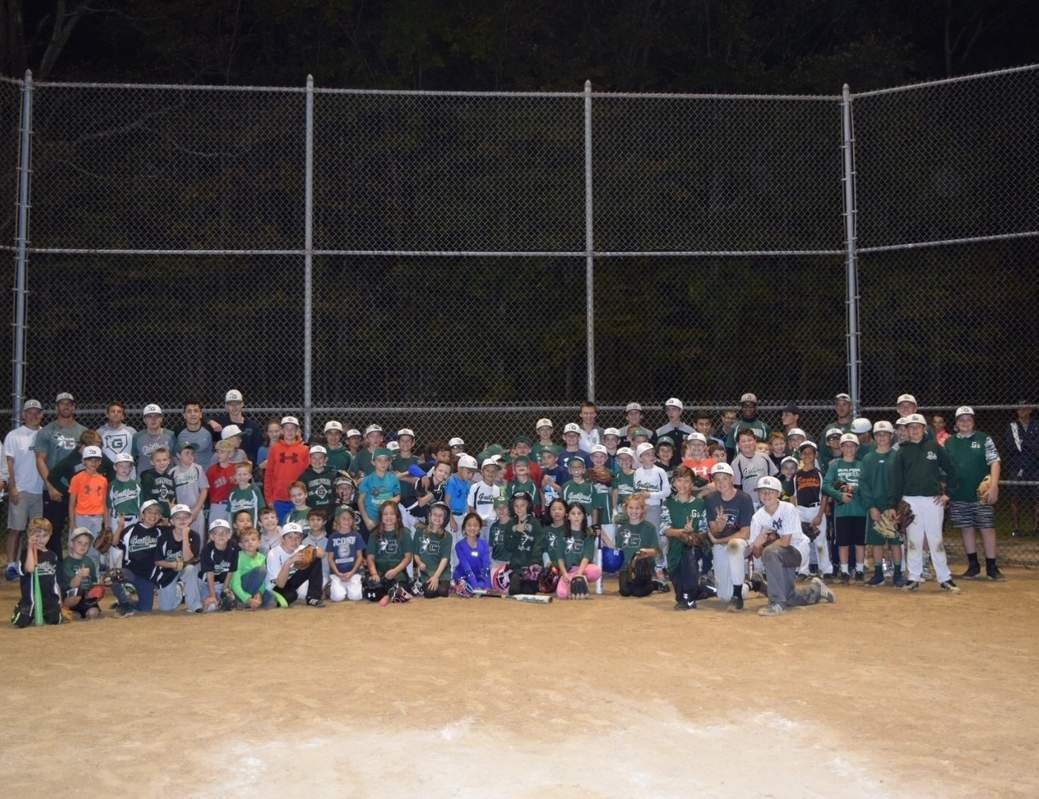 Local youngsters had fun, while learning some fundamentals on the diamond at the Guilford Little League's skill-development clinic. Photo courtesy of Lisa Zajkowski