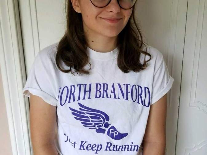 Sarah Sullivan is a runner for all seasons at North Branford High School. After recently completing her senior season with the T-Birds' girls' cross country team, Sarah is ready for indoor track and then has the outdoor track season after that. Photo courtesy of Sarah Sullivan